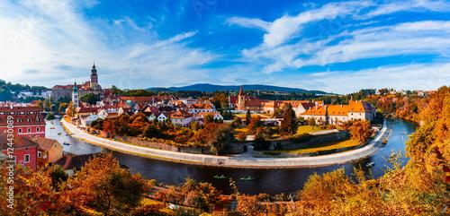 Fotografie, Obraz  Panorama Cesky Krumlov