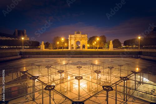 Arc de triomphe du Carrousel Fototapet