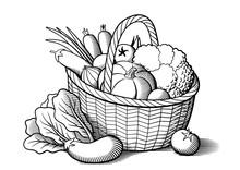 Vegetables In Wicker Basket. S...