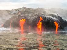 Close Up Of Kilauea Volcano, H...