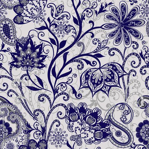 Keuken foto achterwand Boho Stijl The pattern of mandalas and Paisley pattern in Indian style.