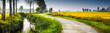 Leinwandbild Motiv paesaggio rurale in campagna