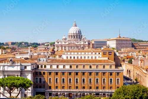 Aluminium Prints Rome Cupola di San Pietro in primo piano