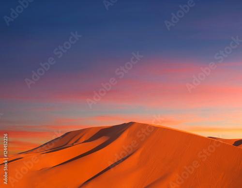 Deurstickers Baksteen Sand dunes in Sahara desert