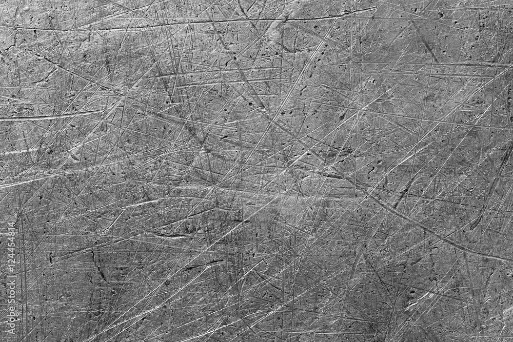 Fototapety, obrazy: Scratched metal texture