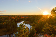 The High Banks Of The Ausable River In Autumn
