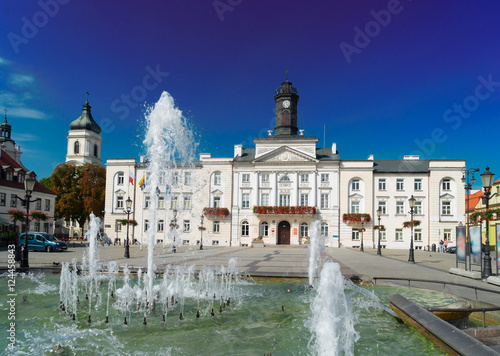 Valokuva  cityhall in old town of Plock, Warsaw