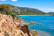 view of Rondinara beach in Corsica Island in France
