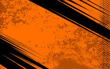 Vector Comic Book And Journal Background. Orange Grunge Texture. Illustration With Halftone Dots For