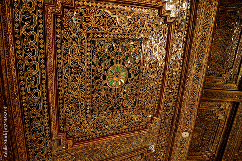 Fényképezés  Beautiful gold and inlaid ceiling