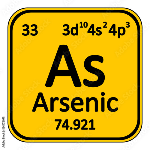 Photo Periodic table element arsenic icon.