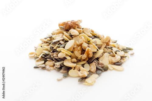 Fotografie, Obraz  pumpkin sunflower seeds cashews