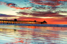 Red Sunset Pier