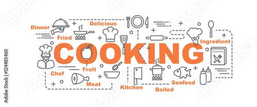 Photo  cooking vector banner