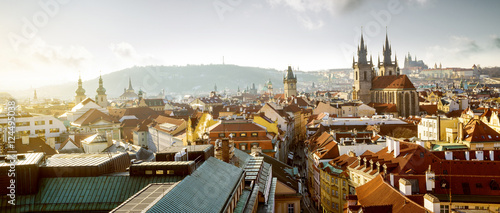 Fotoposter Praag Cityscape of old town in Prague, Czech Republic