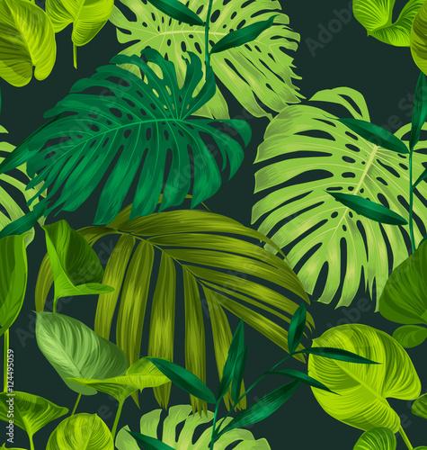 Materiał do szycia wzorem2 tropikalny liść