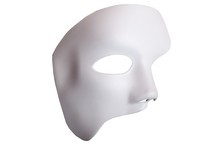 White Scary Halloween Mask Iso...