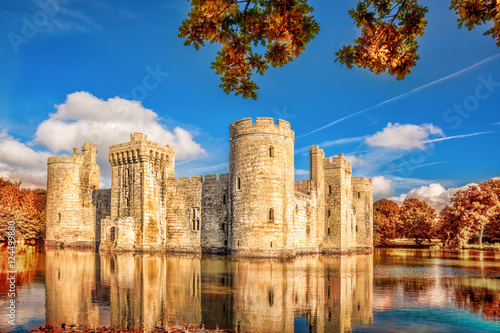 Deurstickers Kasteel Historic Bodiam Castle in East Sussex, England