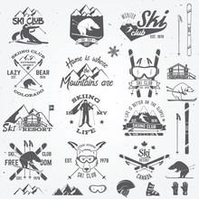 Ski Club Design. Vector Illust...