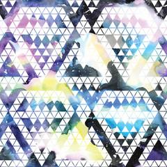 Fototapeta Tribal galaxy seamless pattern.