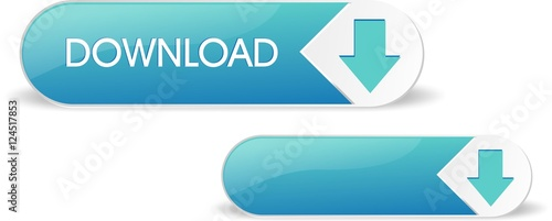 Fotografía  Blue shiny download button