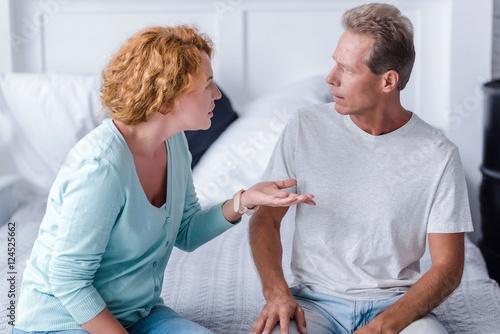 Fotografie, Obraz Angry aged couple quarreling