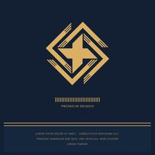 Geometric Monogram Logo. Abstr...