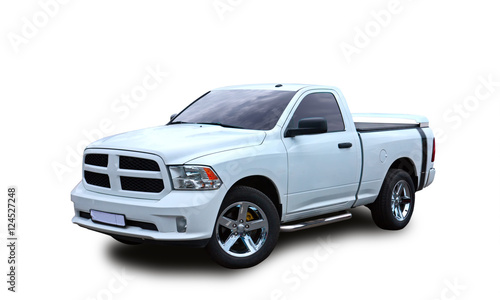 Fotografie, Obraz  American Pickup. White background.