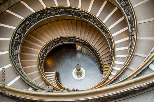 Aluminium Prints Stairs bramante staircase at vatican museum
