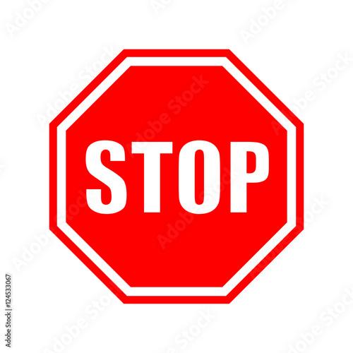 Fotografie, Obraz  Vector stop sign