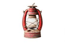 Old Style Lantern Isolated On White Background.
