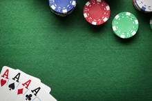 Poker Background - Chips And C...