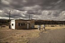 Abandoned Gas Station On Highway 128 In Utah