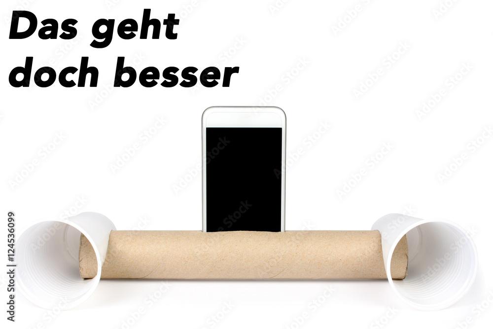 Photo Art Print Selbstgebauter Handy Lautsprecher Das Geht Doch