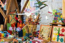 Wooden Toys At Market In Jerte...