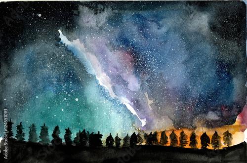 akwarela-ilustracja-krajobraz-przestrzeni
