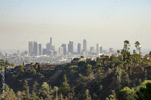 Foto op Plexiglas Los Angeles Los Angeles Downtown Skyline in Distance #4