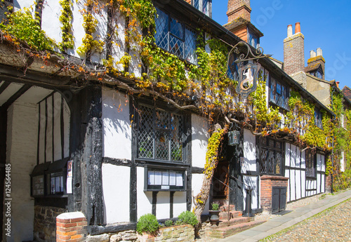 Mermaid inn in the Rye town, England, UK Canvas Print
