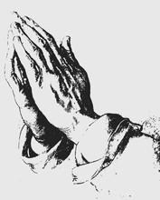 Praying Hands Illustration / Albrecht Dürer [vector]