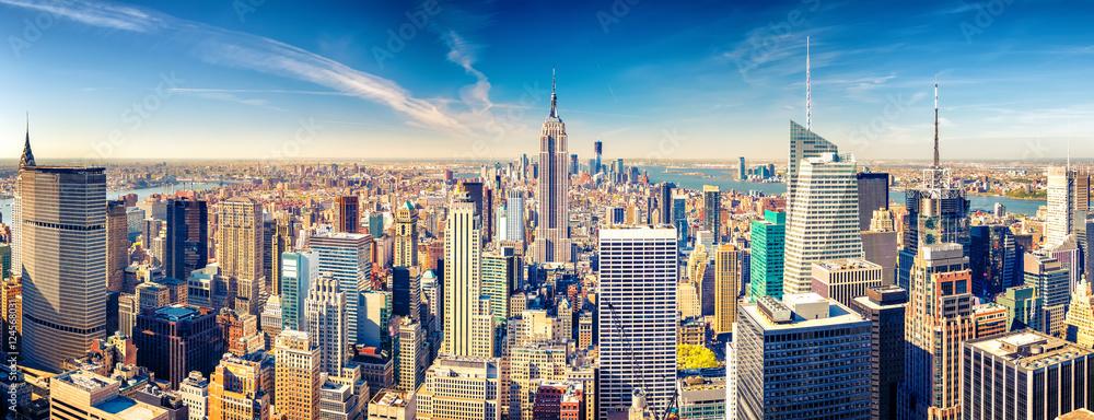 Fototapety, obrazy: New York City Manhattan aerial view