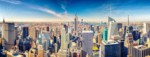 In de dag New York New York City Manhattan aerial view