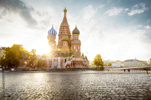 Fotografía  Saint Basil's Cathedral on Red Square in Moscow, Russia