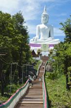 Wat Phra Bat Phu Pan Kham, Khon Kaen, Thailand.
