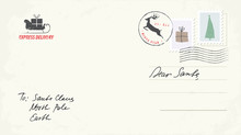 Christmas Postcard Letter To Santa