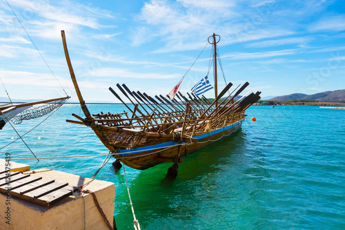 Fotografija  Argo legendary ship copy in port Volos, Greece