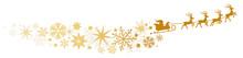 Weihnachtsmann Mit Rentierschlitten Silhouette