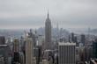 Manhattan view on cloud day