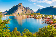Lofoten Islands Landscape In N...