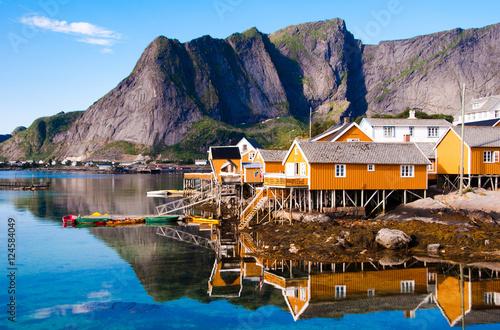 Garden Poster Scandinavia Lofoten islands landscape in Norway