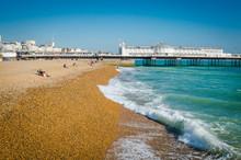 Brighton Beach, With Brighton Pier In Background
